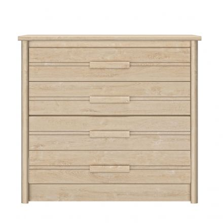 Montana Blond Oak 4 Drawer Chest